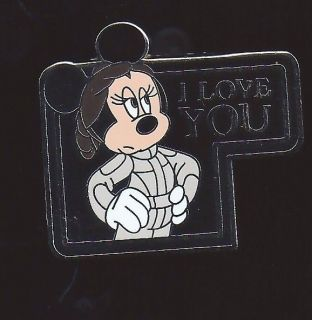 DISNEY STAR WARS QUOTES MINNIE MOUSE AS PRINCESS LEIA I LOVE YOU PIN