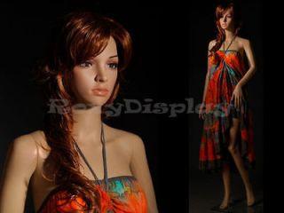 Mannequin Manikin Plastic Realistic Display Head Turns Dress Form PS