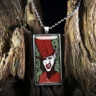 Marilyn Manson Shock Rock Gothic Metal Band Sterling Silver Necklace