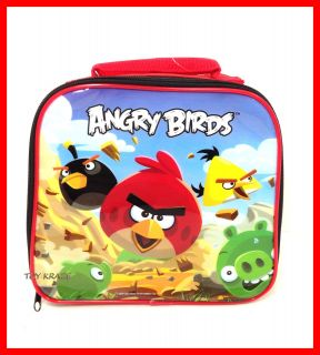 RED SCHOOL LUNCH BOX ROUND SNACK BAG INSULATED BOX ROVIO NWT