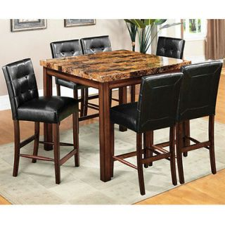 rockford faux marble top counter height dinette set more options