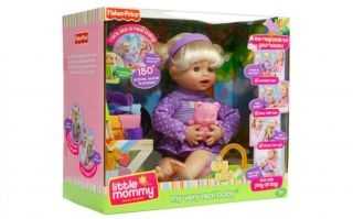 NIB Fisher Price LITTLE MOMMY My Very Real Baby INTERACTIVE Doll