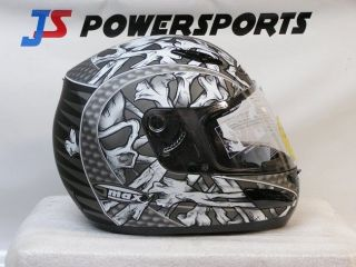 GMAX GM48 BONES HELMET MOTORCYCLE STREET BIKE FULL FACE ADULT BLACK