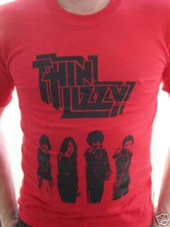 thin lizzy phil lynott punk metal shirt small new time