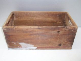 Antique Wood Wooden High Explosive Dangerous Ammo Box Gun Powder Crate