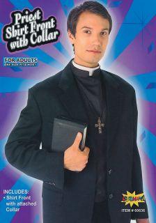 quality priest vicar shirt front collar fancy dress  16 14