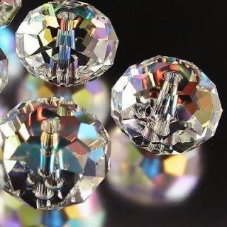 50pcs 12mm clear ab swarovski crystal gems loose beads from