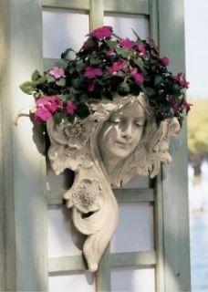 art nouveau french lady wall planter sculpture greenman returns