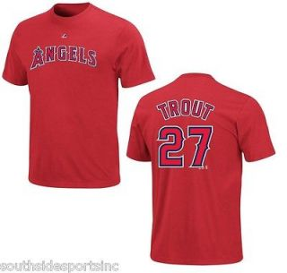 mike trout angels authentic name and number jersey shirt new