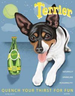 new retro pets toy fox terrier dog print art 8