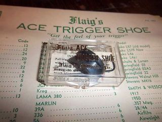 Flaigs Ace Trigger Shoe #20 for Colt 38,32,380 Auto NEW Old Stock