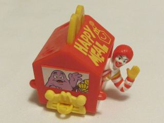 1994 #1 Ronald McDonald presents Happy Birthday Meal Train Toy on
