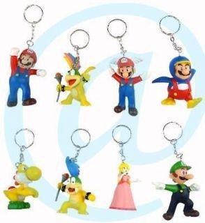 Nintendo Super Mario Penguin Yoshi Luigi Princess Koopaling 8 Keychain