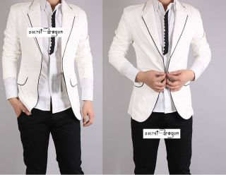 mj20 men s jacket blazer tuxedo black white piping nwt