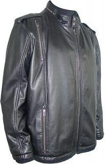 10132 Mens Genuine Lamb Leather Short Jacket Zip Out Fur Liner