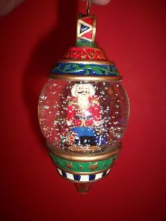 Signature Snow Water Globe Christmas Ornament Toy Soldier New in Box