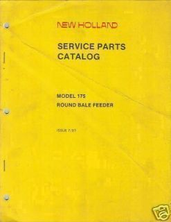 new holland 175 round bale feeder parts manual from canada time left $