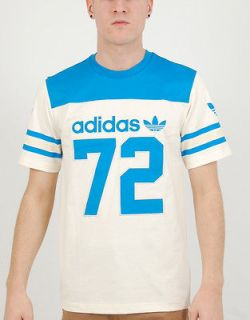 NEW Adidas Originals HERITAGE AMERICAN FOOTBALL TEE Blue Mens Retro