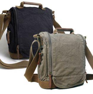 Washed Canvas Bag Vintage Shoulder Messenger Bags Cross Body IPAD2 Bag