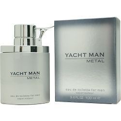 Yacht Man Metal Mens Cologne Spray 3.4 oz (100ml), eau de toilette