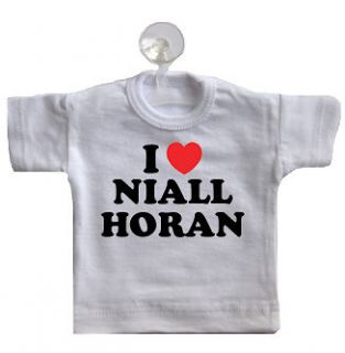 love niall horan mini t shirt for car window