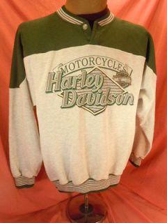 Mens Vtg 50/50 USA 1993 Halls Harley Davidson Chico CA Button V