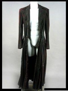 Rider Screen Worn Original Costume Heavy Coat Blackheart (Nicolas Cage