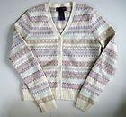 Ralph Lauren Womens Wool/Angora Fair Isle Cardigan Sweater XS