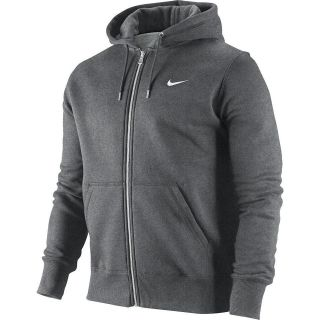 Nike 404512 071 Mens Classic Fleece Hoodie Full Zip Charcoal White S M