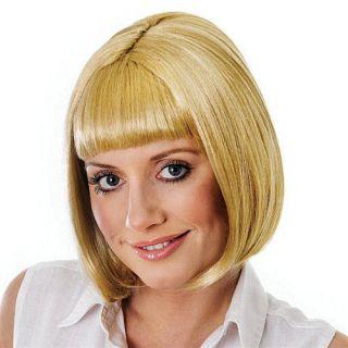 Womens Ladies Fancy Dress Wig Hair Pulp Fiction Character Mia Bob
