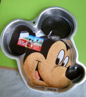 mickey mouse cake pan aluminum bakeware new from wilton time