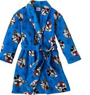 nwt new boys disney mickey mouse fleece robe 2t 3t 4t