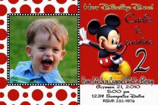 mickey mouse custom photo birthday invitation  1