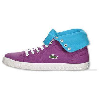 Lacoste Marcel Fold Womens Purple Blue Hi High Tops Chucks New Fold