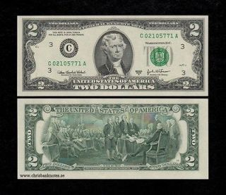 UNITED STATES USA $2 DOLLARS 2003 UNC banknote, P 516   AMERICA