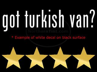 got turkish van vinyl wall art truck car decal sticker