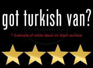 got turkish van vinyl wall art truck car decal sticker
