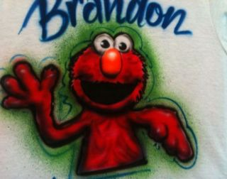 airbrush elmo cookie monster shirt airbrushed miss piggy time left