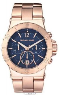 michael kors mk5410 rose gold navy dial oversized watch one