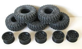Newly listed Axial SCX10 Dingo Rock Crawler Ripsaw tires and rims