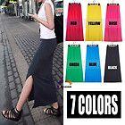 Modal Cotton High Waist MAXI SKIRT Long Full Length Slit Side Skirt S