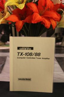 ONKYO INTEGRA TX 108 / 88 COMPUTER CONTROLED TUNER AMPLIFIER