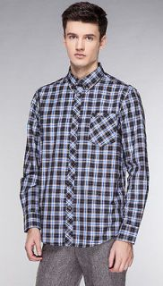 MENS BOYS BEN SHERMAN CHECK SHIRTS STORM BLACK/WHITE SMART WEAR