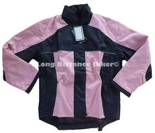 Nexgen Ladies 2 Piece Black and Pink Motorcycle Rain suit Xlarge