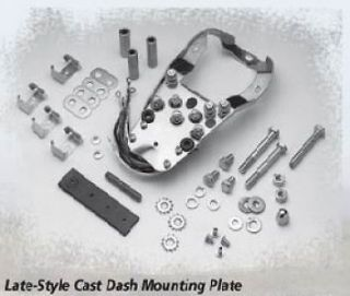 LATE STYLE DASH MOUNTING PLATE BASE FOR HARLEY FATBOB FAT BOB TANKS 68