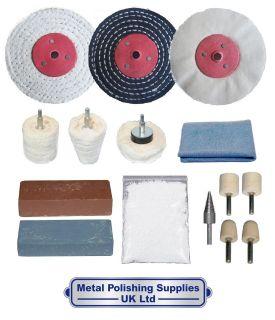 Bicycle MTB Aluminium 15pc Metal Polishing Kit 4 x 1/2 NFKA 4001