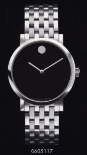 movado mens museum automatic black dial watch 0605117 one day