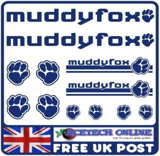 12x Muddy Fox BMX Mountain Bike Vinyl Sticker Decal Kit 01  FREE POST