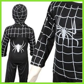KD204 Black Spiderman costume Boys Party Halloween carnival Outfit