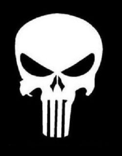 PUNISHER SKULL Sticker Decal   Multiples Colors Available   FREE
